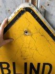 画像2: Vintage Road Sign BLIND DRIVEWAY (T651) (2)
