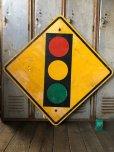 画像1: Vintage Road Sign TRAFFIC SIGNAL (T640) (1)