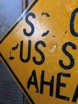 画像3: Vintage Road Sign SCHOOL BUS STOP AHEAD (T629)