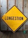 画像1: Vintage Road Sign CONGESTION (T622) (1)