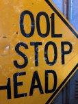 画像4: Vintage Road Sign SCHOOL BUS STOP AHEAD (T629)