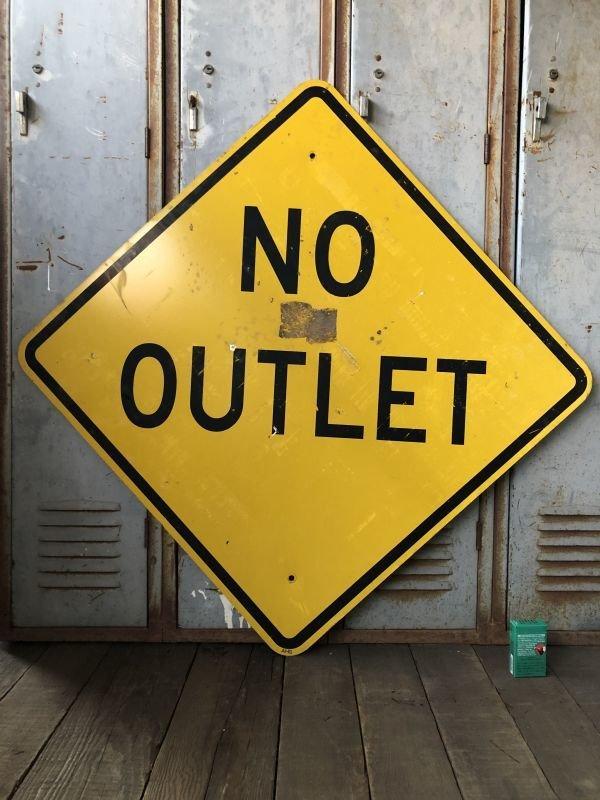 画像1: Vintage Road Sign NO OUTLET (T621)