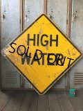 Vintage Road Sign HIGH WATER (T623)