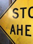画像3: Vintage Road Sign STOP AHEAD (T652)