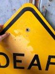 画像2: Vintage Road Sign DEAF CHILD (T650) (2)