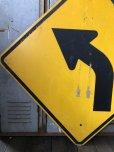 画像3: Vintage Road Sign ↰  (T632)