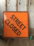 画像3: Vintage Road Sign STREET CLOSED (T618)