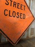 画像4: Vintage Road Sign STREET CLOSED (T645)
