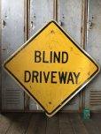 画像1: Vintage Road Sign BLIND DRIVEWAY (T651) (1)