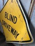 画像6: Vintage Road Sign BLIND DRIVEWAY (T651)