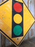 画像4: Vintage Road Sign TRAFFIC SIGNAL (T640)