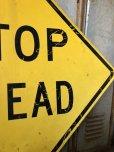 画像4: Vintage Road Sign STOP AHEAD (T652)
