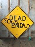 Vintage Road Sign DEAD END (T620)