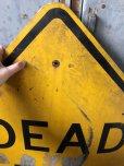 画像2: Vintage Road Sign DEAD END (T641) (2)