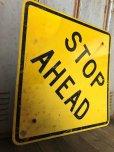 画像6: Vintage Road Sign STOP AHEAD (T652)