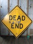 画像1: Vintage Road Sign DEAD END (T641) (1)