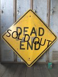Vintage Road Sign DEAD END (T641)