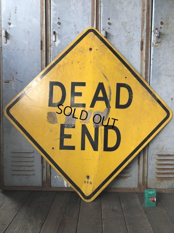 画像1: Vintage Road Sign DEAD END (T641)