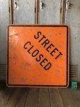 画像6: Vintage Road Sign STREET CLOSED (T645)