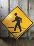 画像1: Vintage Road Sign CROSS WALK (T635) (1)