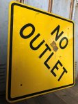 画像5: Vintage Road Sign NO OUTLET (T621)