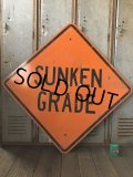 Vintage Road Sign SUNKEN GRADE (T628)