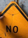 画像2: Vintage Road Sign NO OUTLET (T647) (2)