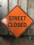 画像1: Vintage Road Sign STREET CLOSED (T618) (1)