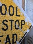画像4: Vintage Road Sign SCHOOL BUS STOP AHEAD (T626)