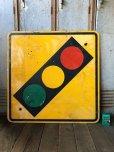 画像5: Vintage Road Sign TRAFFIC SIGNAL (T640)