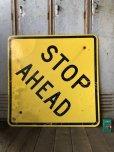 画像5: Vintage Road Sign STOP AHEAD (T652)