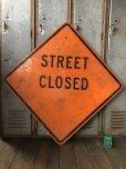 画像1: Vintage Road Sign STREET CLOSED (T645) (1)