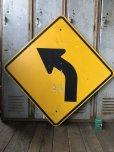画像1: Vintage Road Sign ↰  (T632) (1)
