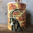 画像2: Vintage Safari Coffee Animal Tin Can African Lion (T659) (2)
