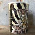 画像2: Vintage Safari Coffee Animal Tin Can Cape Buffalo (T656) (2)