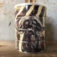 画像1: Vintage Safari Coffee Animal Tin Can Cape Buffalo (T655) (1)