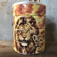 画像3: Vintage Safari Coffee Animal Tin Can African Lion (T659)