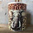 画像1: Vintage Safari Coffee Animal Tin Can African Elephant (T660) (1)