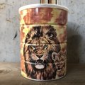 Vintage Safari Coffee Animal Tin Can African Lion (T658)