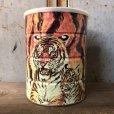 画像1: Vintage Safari Coffee Animal Tin Can Tiger (T654) (1)