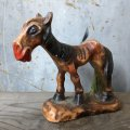 Vintage Laughing Donkey Ceramic Statue (T663)