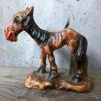画像2: Vintage Laughing Donkey Ceramic Statue (T663) (2)