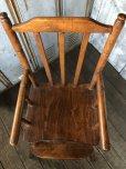 画像8: Antique Kid's Wood Hi-Chair (T782)