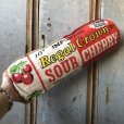 画像1: 60s Vintage Regal Crown Sour Cherry Advertising Pillow (T785) (1)