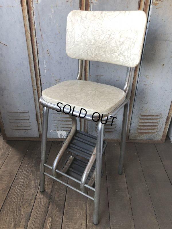 画像1: Vintage Mid-Century Step Stool Hi-Chair (T784)