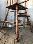 画像6: Antique Kid's Wood Hi-Chair (T782)