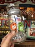 画像1: Vintage M&M's L.A. OLYMPIC Glass Candy Jar (T789)  (1)