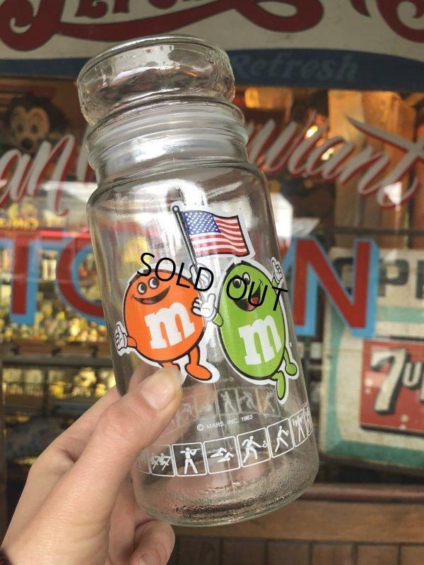 画像1: Vintage M&M's L.A. OLYMPIC Glass Candy Jar (T789)