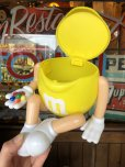画像2: Vintage M&M's Jar Yellow (T783)  (2)
