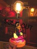 【SALE】 Vintage Lamp  Disney Donald Duck (T795)